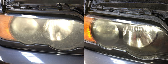 Headlight Restoration Cleaning